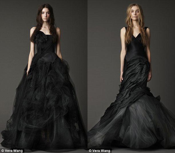 Fotos de vestidos de novia color negro