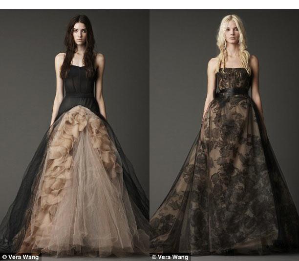 Vestido novia negro vera wang – Vestidos de noche populares foto del ...